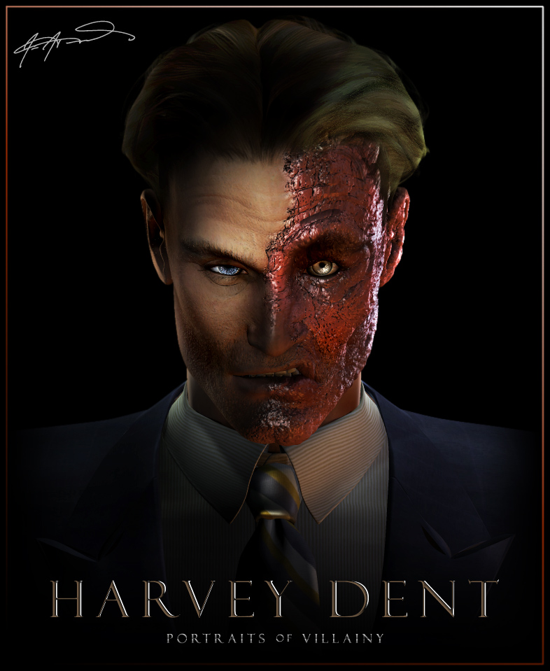 Portraits of villainy harvey dent