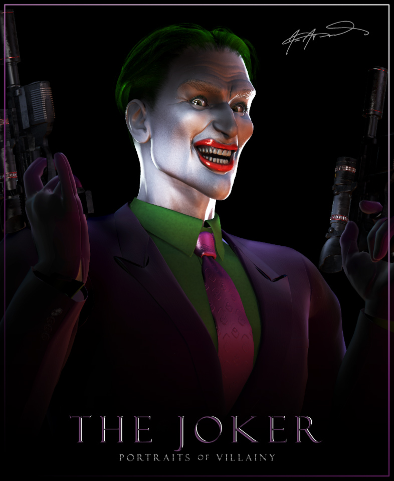 Portraits of villainy the joker